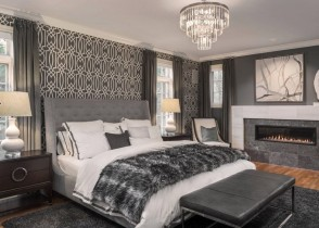 luxury bedroom decor grey bed with buttons bedroom set