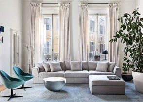 Contemporari modern white sectional sofa