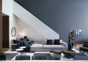 Contemporary modern multicolor sectional