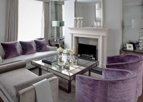 Modern Living room purple chairs