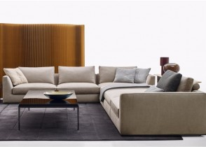 Modern white sectional sofa velvet