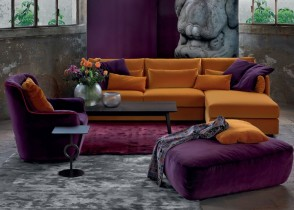 Orange Sofa purple cha